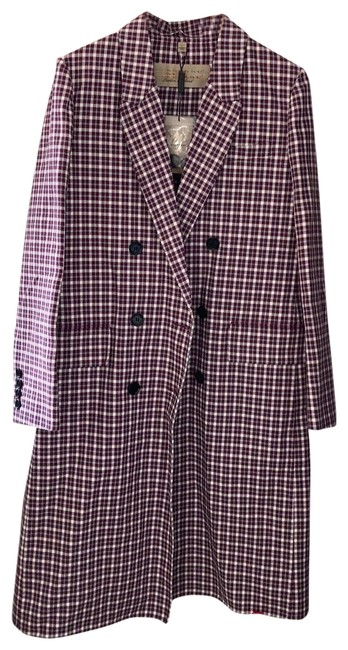 Item - Burgundy Double Breasted Coat Size 10 (M)
