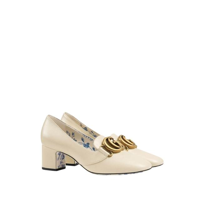 Item - Cream Double G Leather Mid-heel Pumps Size EU 40.5 (Approx. US 10.5) Regular (M, B)