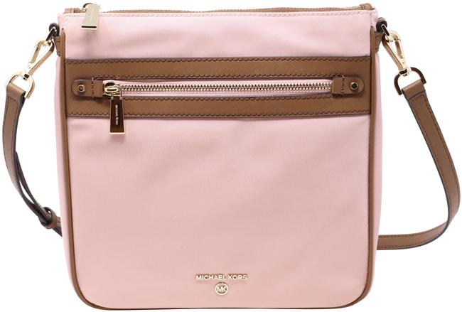 Item - Jet Set Charm North South and Leather Pink Nylon Cross Body Bag