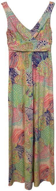 Item - Multi-colored Sleeveless Long Casual Maxi Dress Size 8 (M)