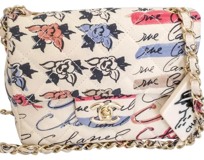 Item - Classic Flap Graffiti Cambon Printed Mini Coco Multicolor Canvas Cross Body Bag