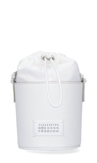 Item - Bucket 5ac Micro White Leather Shoulder Bag