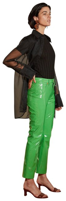 Item - Neon Green Coated Pants Size 8 (M, 29, 30)