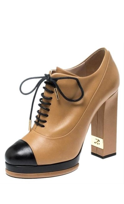 Item - Black/Nude Oxfords Boots/Booties Size EU 38.5 (Approx. US 8.5) Narrow (Aa, N)