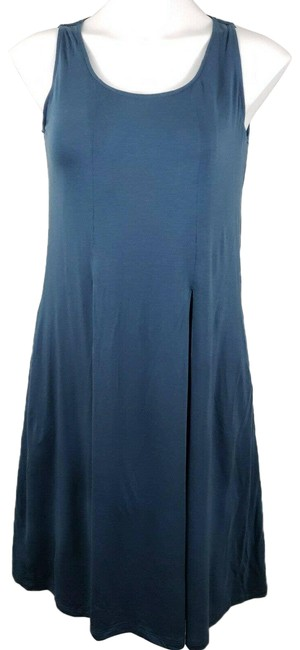 Item - Sleeveless Swing Fit Flare Teal Knee Length Short Casual Dress Size 4 (S)