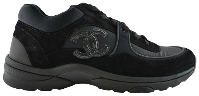 Item - Black Rev Classic Nylon Suede Cc Lace Up Flat Runner Trainer Sneakers Size EU 36.5 (Approx. US 6.5) Regular (M, B)
