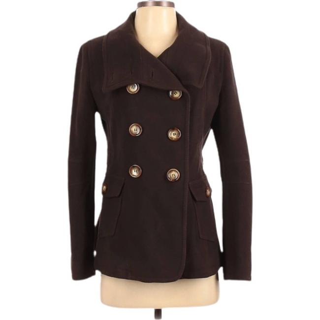 Item - Brown Double Breasted Wool Peacoat Jacket Size 6 (S)