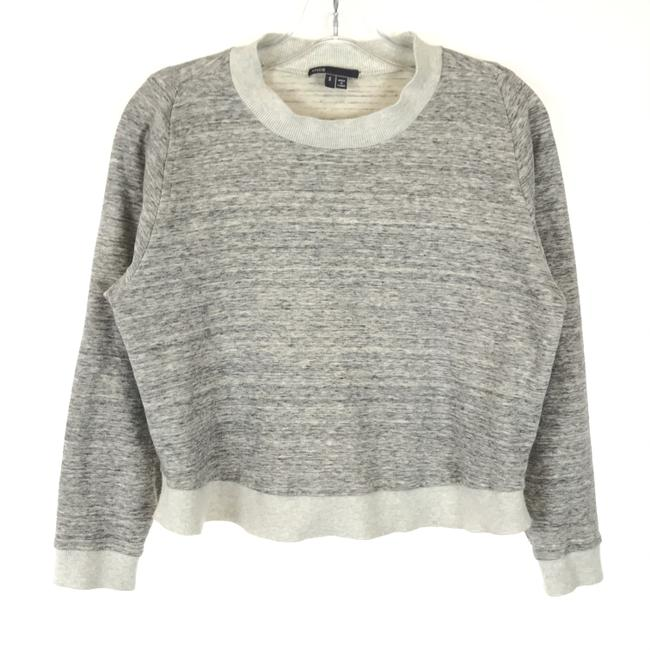 Item - Gray Marled Knit Pullover Sweatshirt/Hoodie Size 4 (S)