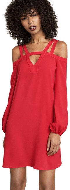 Item - Red Berry Weiss Cold-shoulder Short Casual Dress Size 8 (M)