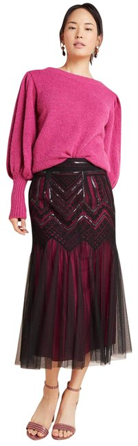 Item - Black New Geisha Designs Marlee Sequined Tulle Skirt Size 6 (S, 28)
