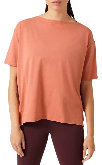 Item - Rustic Coral Back In Action Sleeve Activewear Top Size 8 (M)