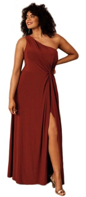 Item - Red Jersey Brixen One Shoulder Gown Long Formal Dress Size 12 (L)