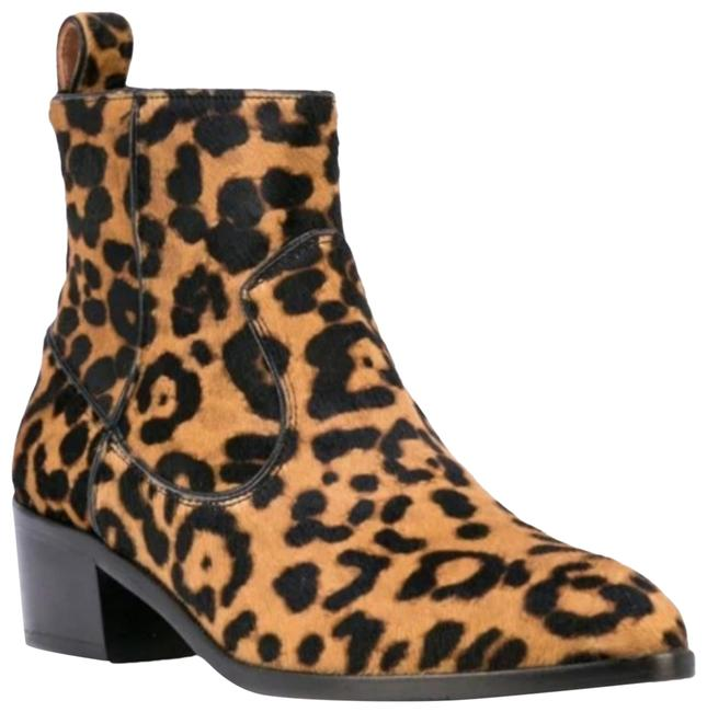 Item - Leopard Tanner Ankle Boots/Booties Size US 5 Regular (M, B)