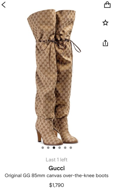 Item - Beige Over The Knee Boots/Booties Size EU 37 (Approx. US 7) Narrow (Aa, N)