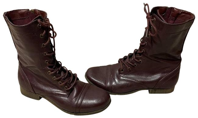 Item - Brown Red Combat Boots/Booties Size US 7 Regular (M, B)