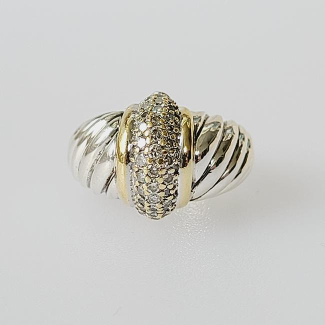 Item - David yurman large shrimp diamond ring with Gold Ring