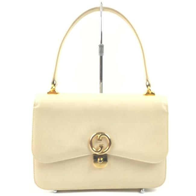 Item - 1973 Top Handle Bag Multiple W Compartments Cream Leather/Gold Satchel