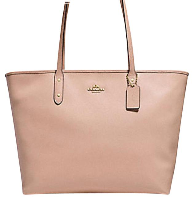 Item - City Large Zip Im/Nude Pink Canvas Tote