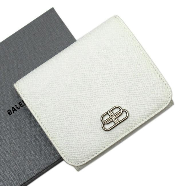 Item - Silver / White Tri-fold Leather Wallet