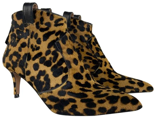Item - Brown Leopard Calf Hair Ankle Boots/Booties Size US 7 Regular (M, B)