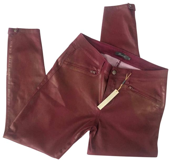 Item - Red Coated Denim Ankle Zip Skinny Jeans Size 31 (6, M)