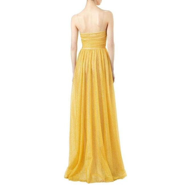 Gucci Yellow Glitter Tulle Gown Long Formal Dress Size 2 (XS) Gucci Yellow Glitter Tulle Gown Long Formal Dress Size 2 (XS) Image 4