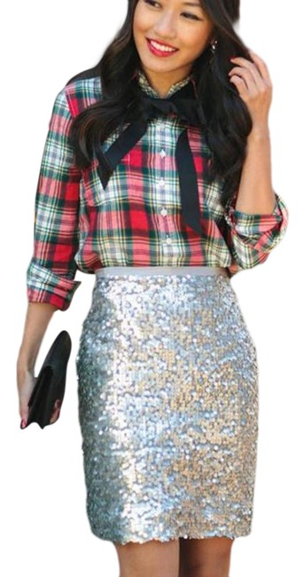 Item - Silver Collection Cocktail Sequin Skirt Size 00 (XXS, 24)