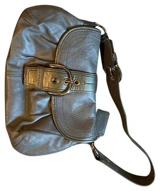 Item - Collection Of Purses One Black Leather One White Leather One Gray Leather Hobo Bag