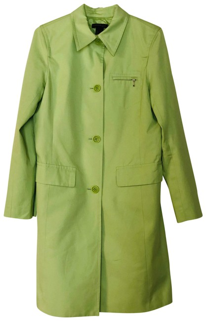Item - Colourful Light Green Trench Elegance Classic Coat Size 6 (S)