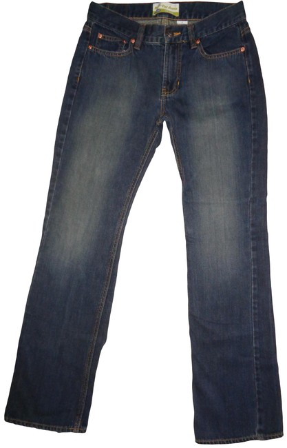 Item - Blue Dark Rinse Waist Boot Cut Jeans Size 26 (2, XS)