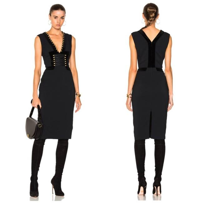 Item - Black Adriana Lace Up Corset Style Cocktail Dress Size 8 (M)