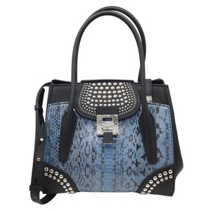 Michael Kors Collection Satchel in Black and Blue