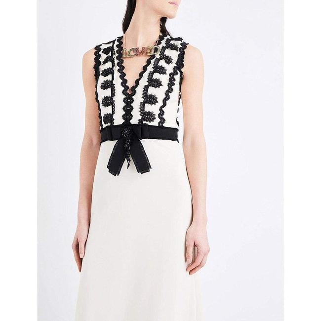 Gucci Cream Jersey Sleeveless V-neck Gown with Lace Trim Long Formal Dress Size 2 (XS) Gucci Cream Jersey Sleeveless V-neck Gown with Lace Trim Long Formal Dress Size 2 (XS) Image 6
