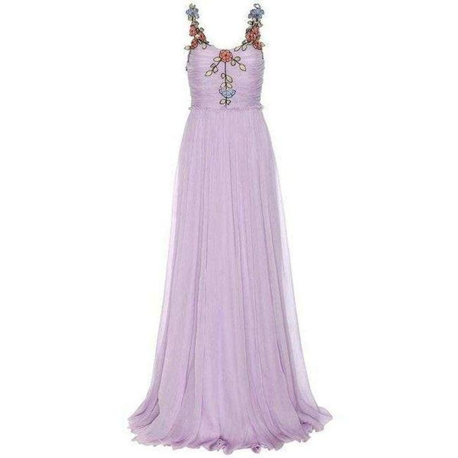 Item - Purple Flowing Chiffon Gown with A Multilayer Skirt That Gathers Long Formal Dress Size 2 (XS)