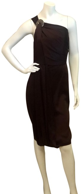 Item - Bordeaux One Of A Kind Mid-length Cocktail Dress Size 10 (M)