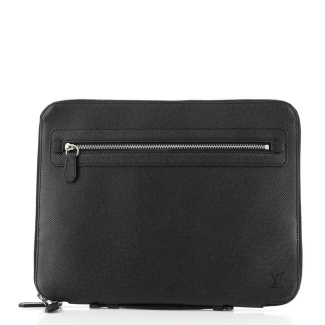 Item - Portfolio Vladimir Taiga Black Leather Clutch