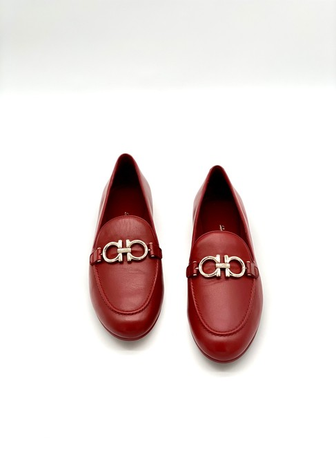 Item - Red Loafers Flats Size US 9 Regular (M, B)