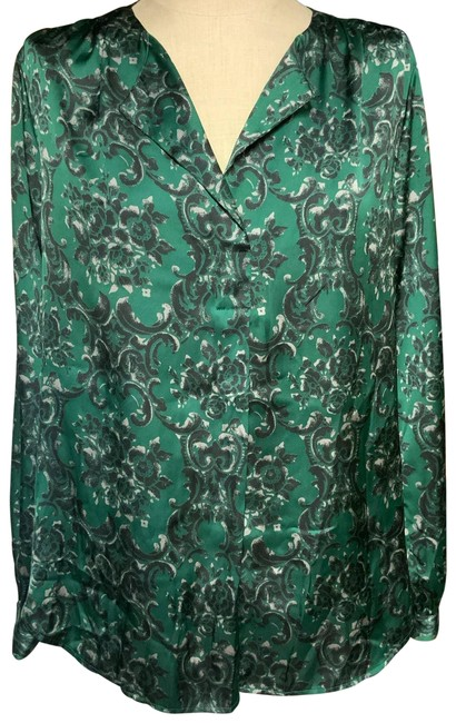 Item - Green Popover Blouse Size 8 (M)