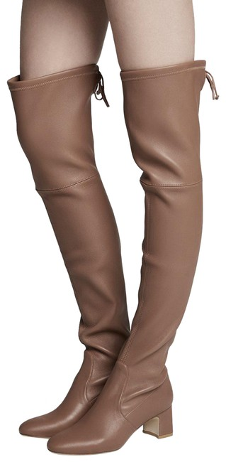 Item - Taupe Leather Zuzanna Over The Knee Boots/Booties Size US 10 Regular (M, B)