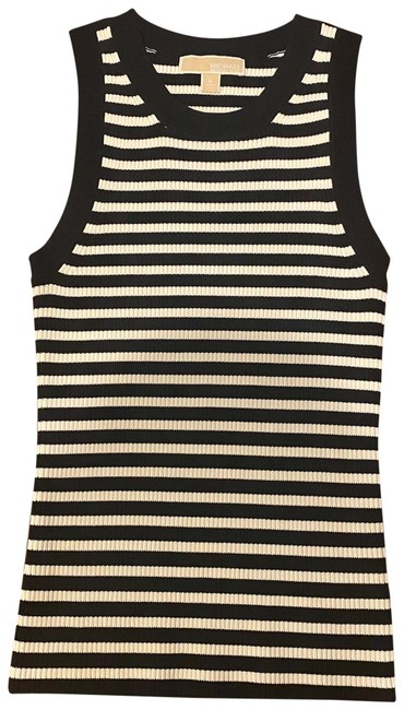 Item - Black and White Striped Tank Top/Cami Size 8 (M)