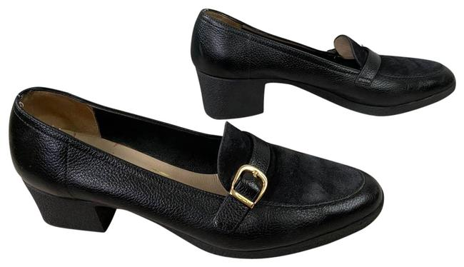 Item - Black Heeled Loafers Flats Size US 7 Narrow (Aa, N)