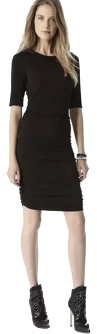 Item - Black Air Ruched Short Casual Dress Size 2 (XS)