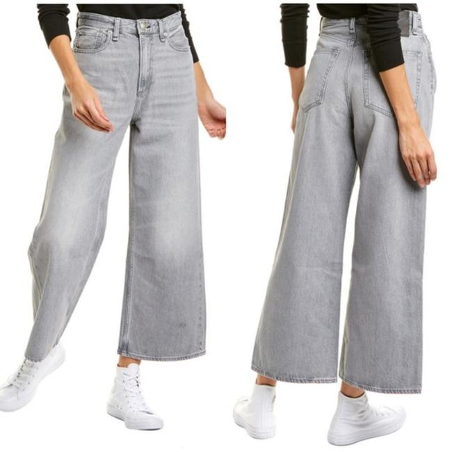 Item - Gray Light Wash Super High Rise Ankle Wide In Pearl Flare Leg Jeans Size 30 (6, M)