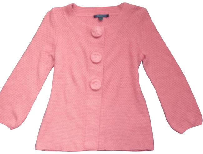 Item - Pink Boden Swing Textured Crop Cashmere Angora Cotton Cardigan Size 4 (S)