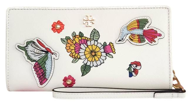 Item - New Ivory / Multi Emerson Applique Wristlet Wallet