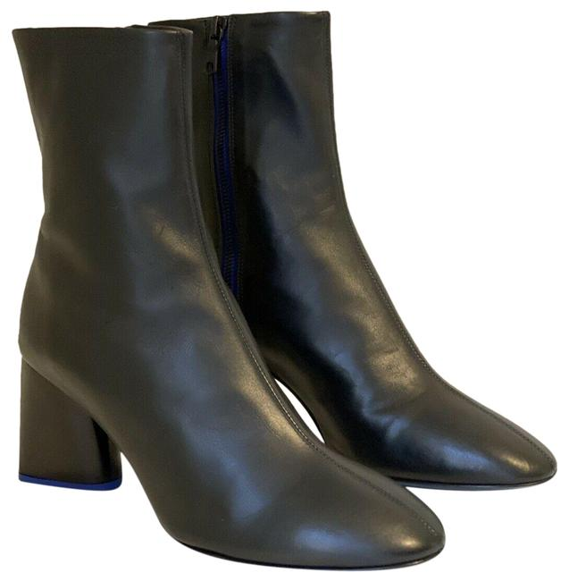 Item - Black Leather Heel Ankle Boots/Booties Size EU 39.5 (Approx. US 9.5) Regular (M, B)