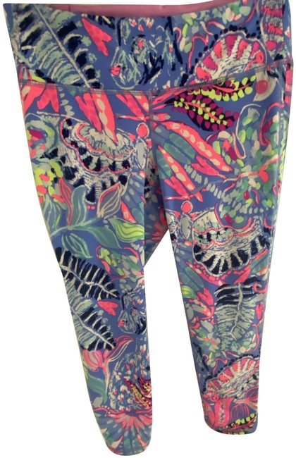 Lilly Pulitzer Multicolor Luxletic Cropped Activewear Bottoms Size 8 (M, 29, 30) Lilly Pulitzer Multicolor Luxletic Cropped Activewear Bottoms Size 8 (M, 29, 30) Image 1