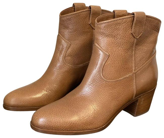 Item - Brown Pebbled Leather Western Cowboy Boots/Booties Size EU 36 (Approx. US 6) Regular (M, B)
