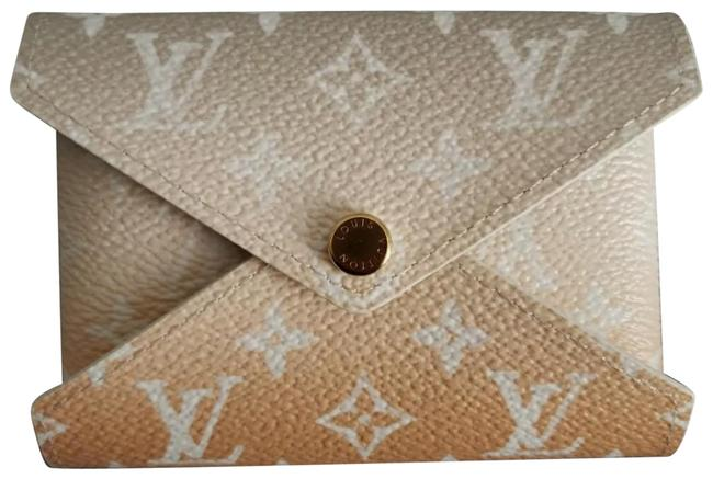 Item - Kirigami Mini Pouch By Pool Mist Beige Coated Canvas Clutch