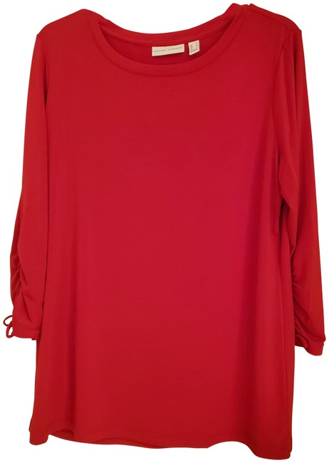 Item - Red Long Sleeve Blouse Size 10 (M)